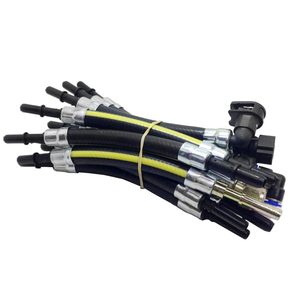 Manômetro de Pressão e Vazão p/ Bomba de Combustível com 17 Mangueiras de Injeção Eletrônica Anti Chama - Imagem zoom