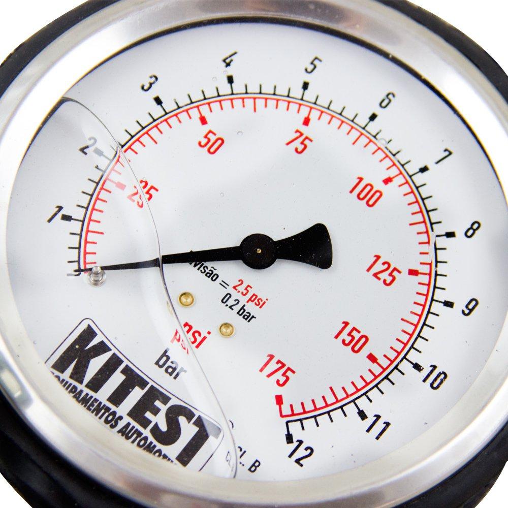Teste de Pressão de Bomba de Combustível Manômetro de Aço Inox e 13 Mang. para Auto - Imagem zoom