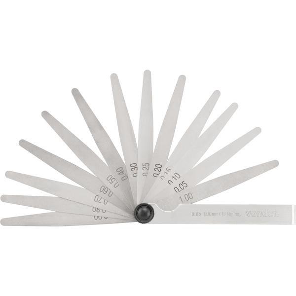 Cálibre de folga 0,05 mm a 1,00 mm 13 lâminas CF 013 VONDER - Imagem zoom