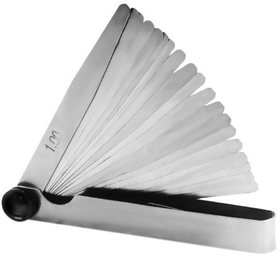 Calibre de Folga de 20 Lâminas com Medidas de 0,05 a 1,00 mm - Imagem zoom