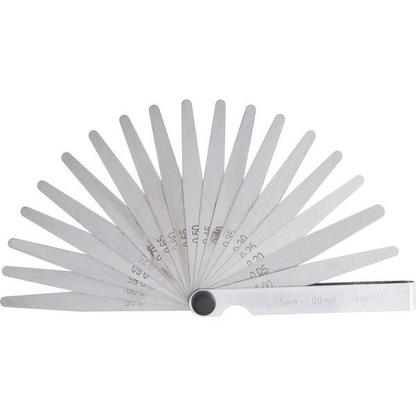 Cálibre de folga 0,05 mm a 1 mm 20 lâminas CF 020 VONDER - Imagem zoom
