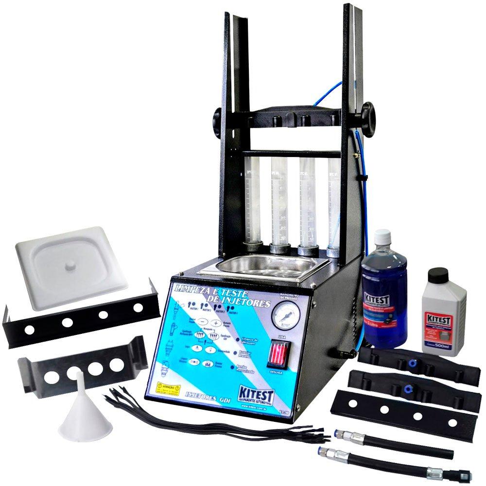 Máquina de Limpeza e Teste de Injetores/ Injeção Direta GDI com Cuba 1 Litro - Imagem zoom
