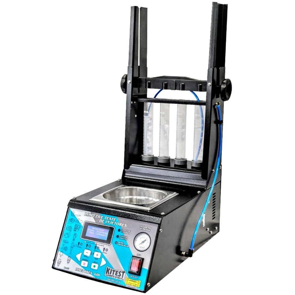 Maquina de Teste e Limpeza de Injetores/GDI, Teste de Atuadores, Corpo de Borboleta Eletrônico com Cuba de 1 Litro - Imagem zoom