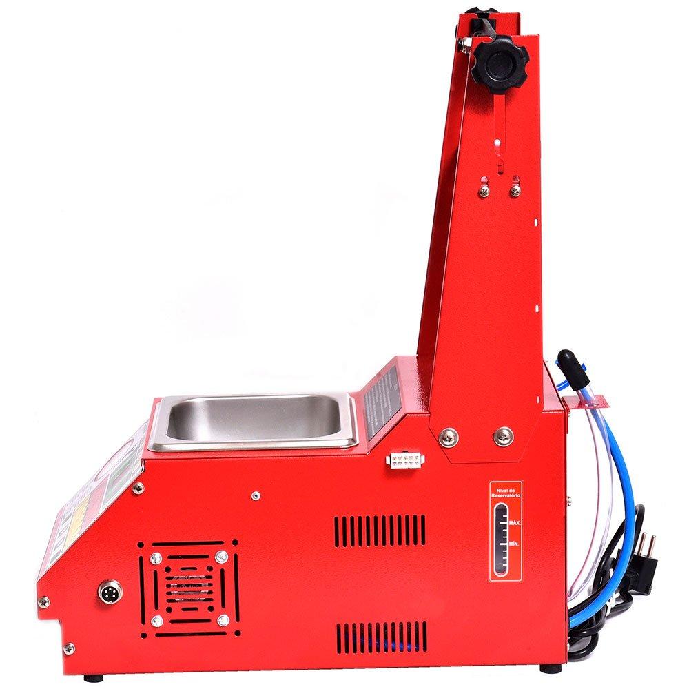Máquina Limpeza/Teste Injetores Padrão/GDI Injeção Direta 34 Funções com Estrobo e Cuba 1L - Imagem zoom