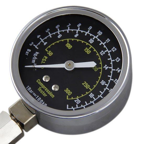 Medidor de Compressão de Rosca e Pressão c/ Manômetro - 4 Tipos de Unidade de Pressão - Imagem zoom