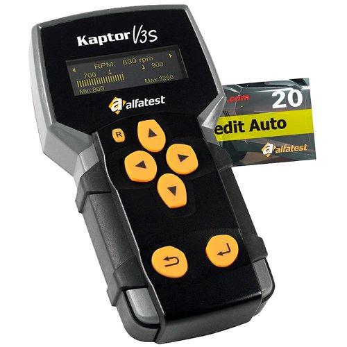 kit scanner alfatest-20 51140030 kaptor v3s auto pack 15 e credit 20 + cartão credit 20