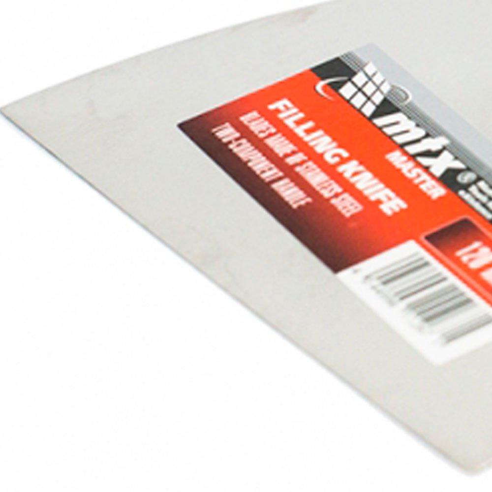 Espátula de Aço Inoxidável Lisa de 120mm - Imagem zoom