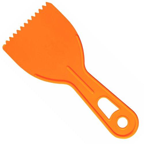 espátula plástica dentada 6cm