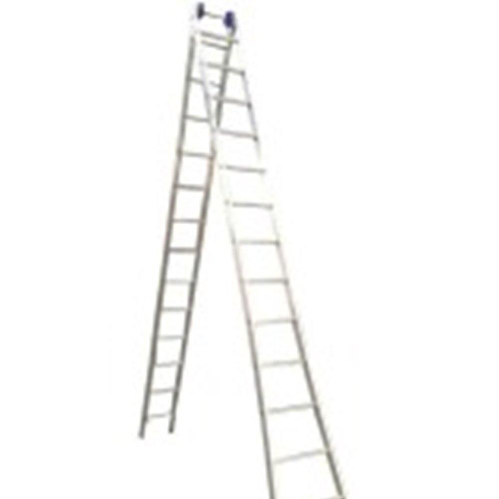 Escada Extensiva 4 em 1 2 x 13 Degraus em Alumínio - Imagem zoom