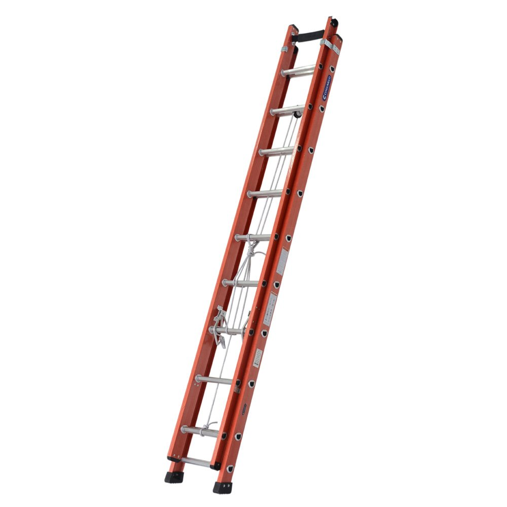 Escada Extensível Vazada 29 Degraus Úteis 5,15 x 9m Cor Laranja - Imagem zoom