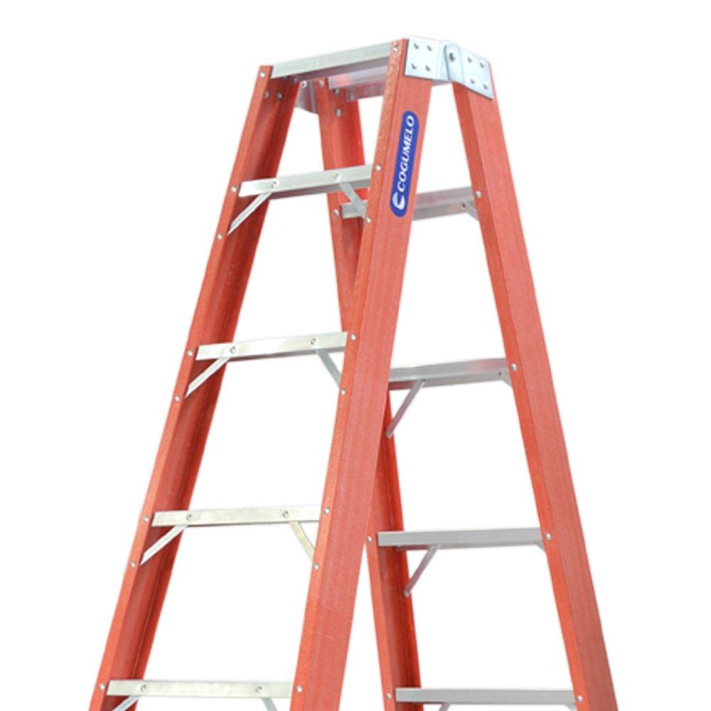 Escada Tesoura Duplo Acesso 12 Degraus Úteis 3,75m - Imagem zoom