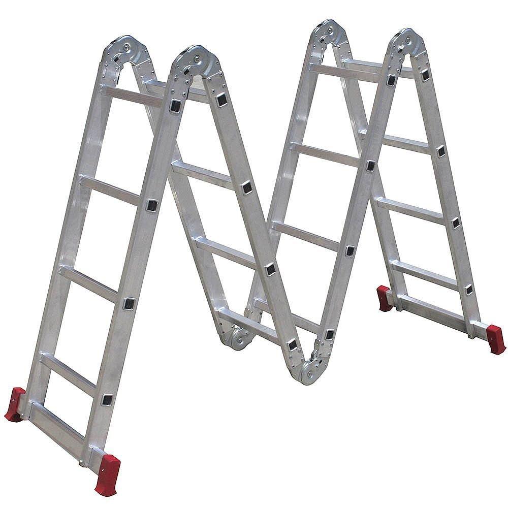 Escada Articulada 4x4 com 16 Degraus de Alumínio - Imagem zoom