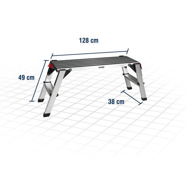 Plataforma de Alumínio Dobrável 150 Kgf Plus - Imagem zoom