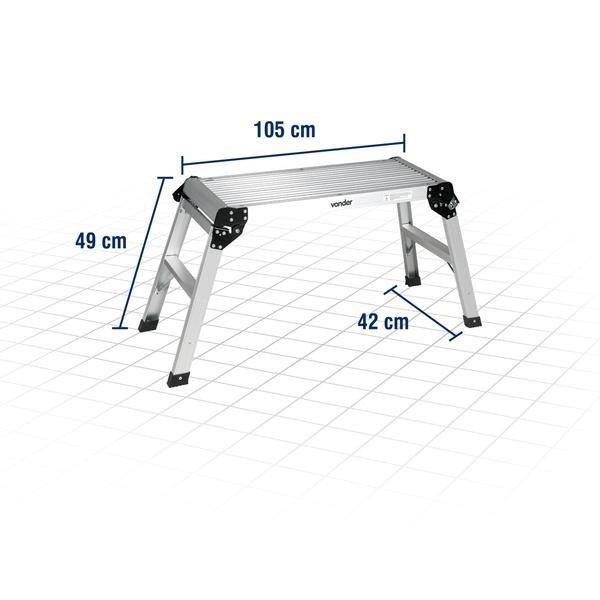 Plataforma de Alumínio Dobrável 150 Kgf - Imagem zoom
