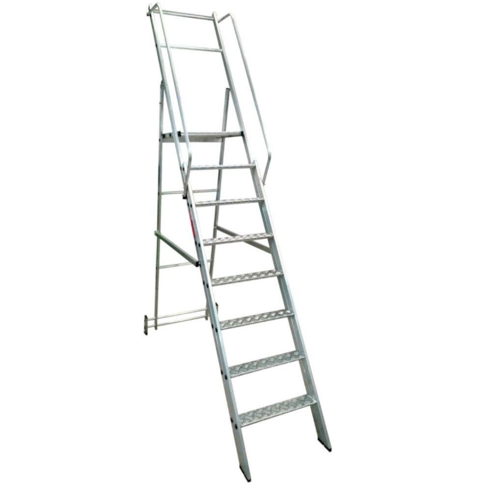 Escada Plataforma Podium 2,00m Dobrável 7 Degraus + Plataforma  - Imagem zoom