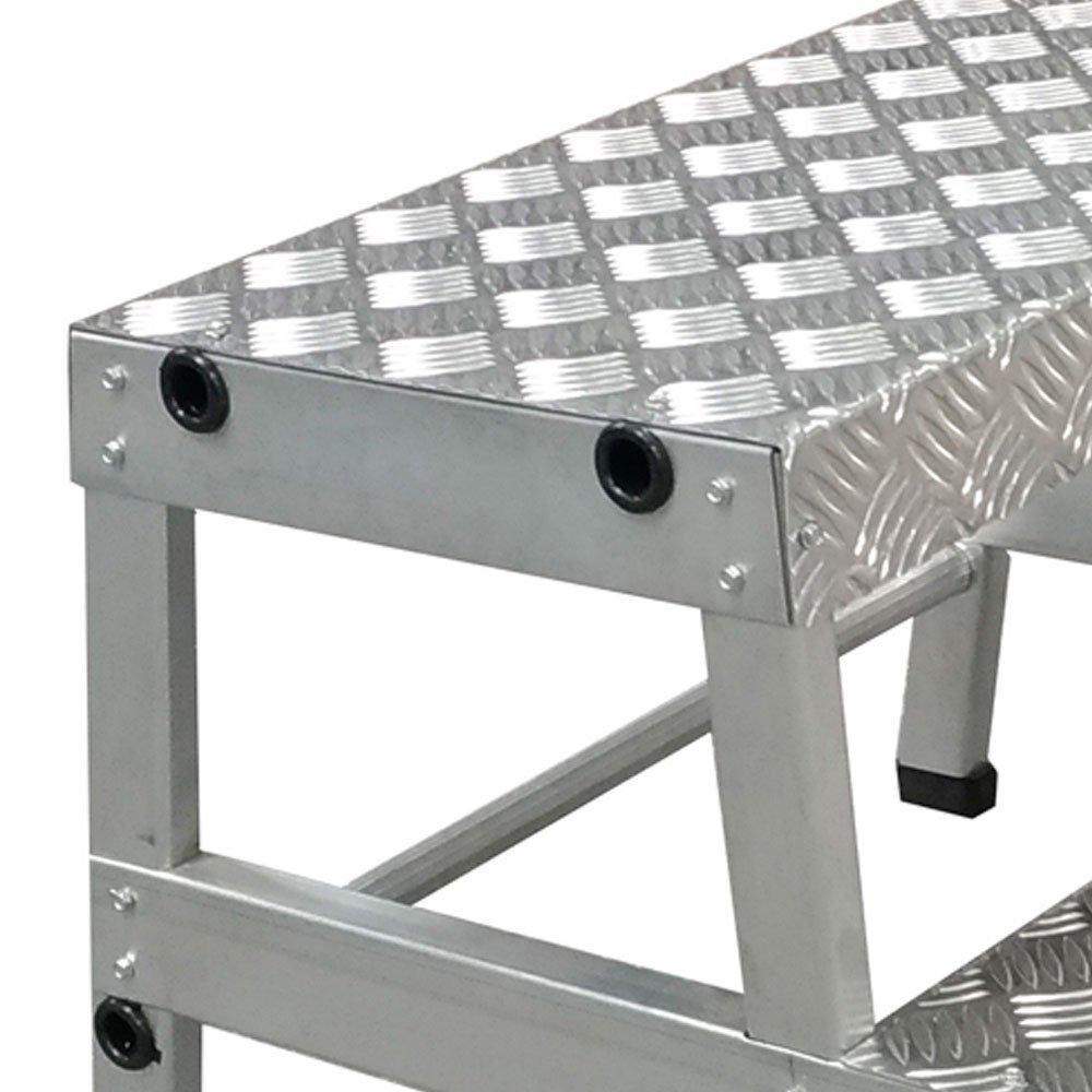 Escada tipo Banqueta Reforçada 400mm 2 Degraus  - Imagem zoom