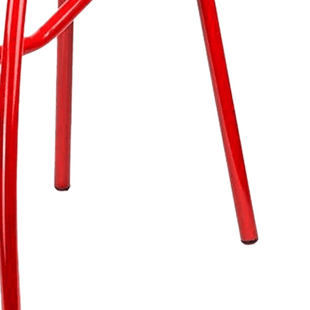 Escada Banqueta Multiuso 52cm Vermelha - Imagem zoom