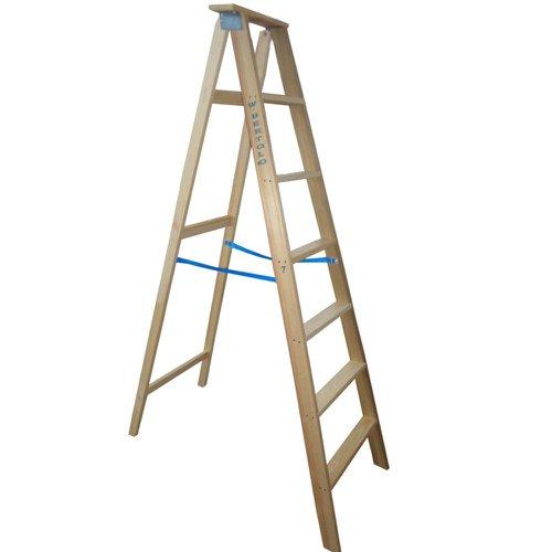 escada dupla americana de madeira com 10 degraus 2,70 m