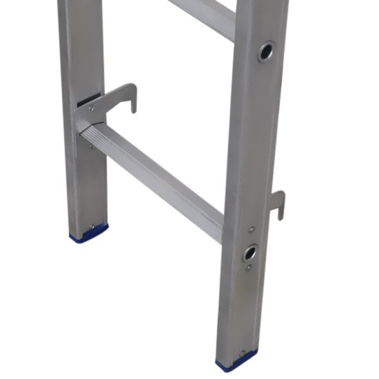 Escada Extensível 2 Partes de 10 Degraus em Alumínio - Imagem zoom