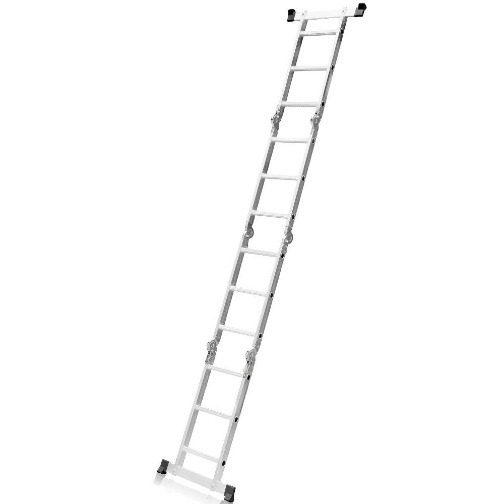 Escada Multifuncional 4x3 em Alumínio com 12 Degraus - Imagem zoom
