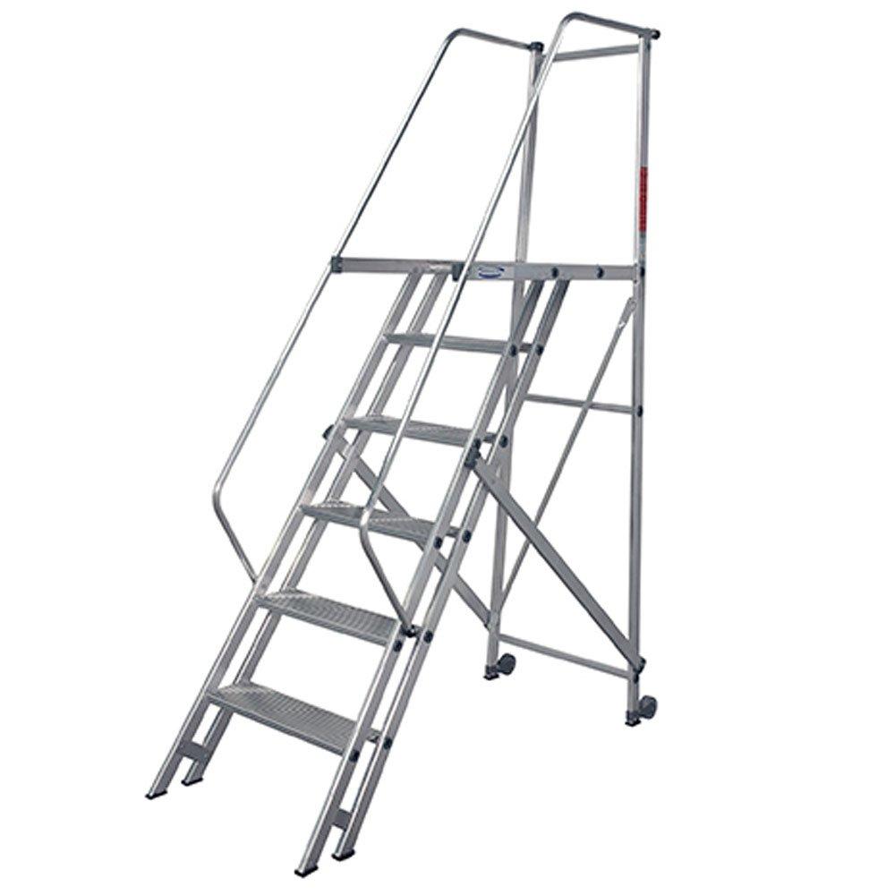 Escada de Alumínio Tipo Plataforma 6 Degraus 1,75 Metros - Imagem zoom