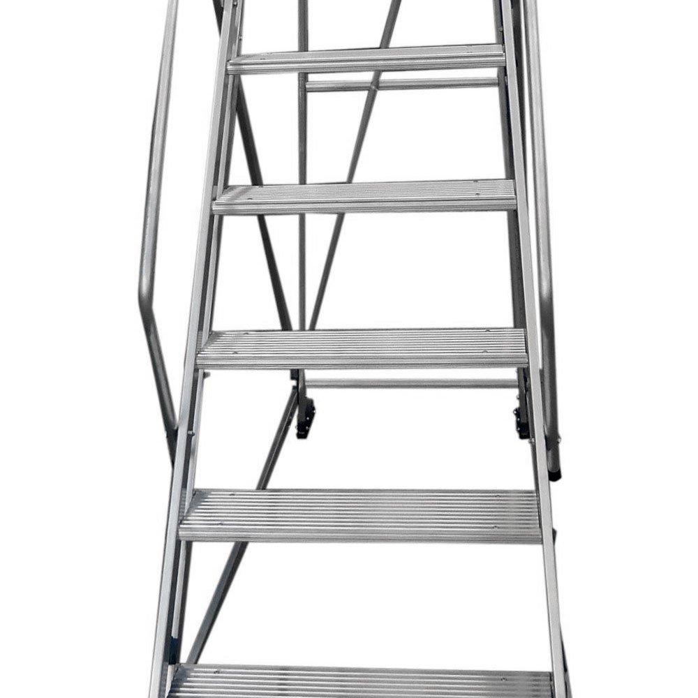 Escada Plataforma em Alumínio 2,25m com 8 Degraus - Imagem zoom