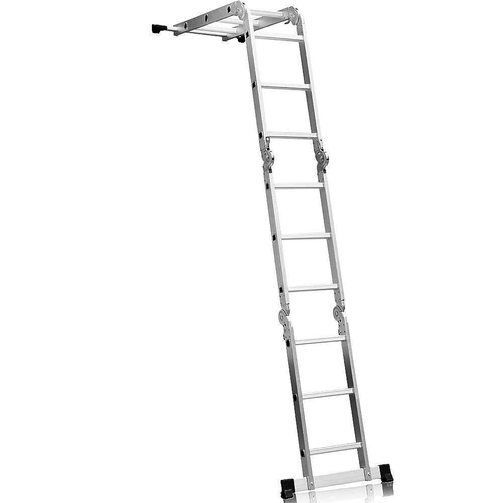 Escada Multifuncional 4x3 em Aço e Alumínio 12 Degraus - Imagem zoom