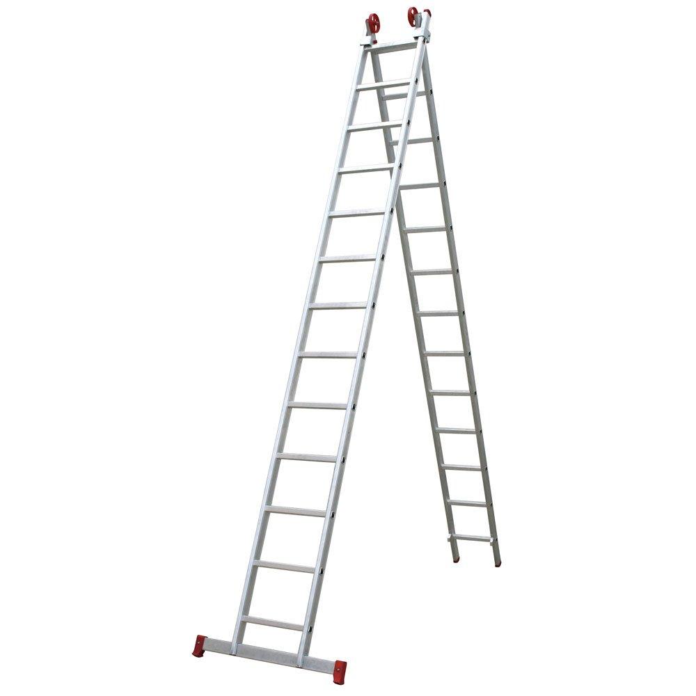 0f5cd3149 Escada Extensiva 3 em 1 em Alumínio 13 x 2 Degraus - BOTAFOGO ...