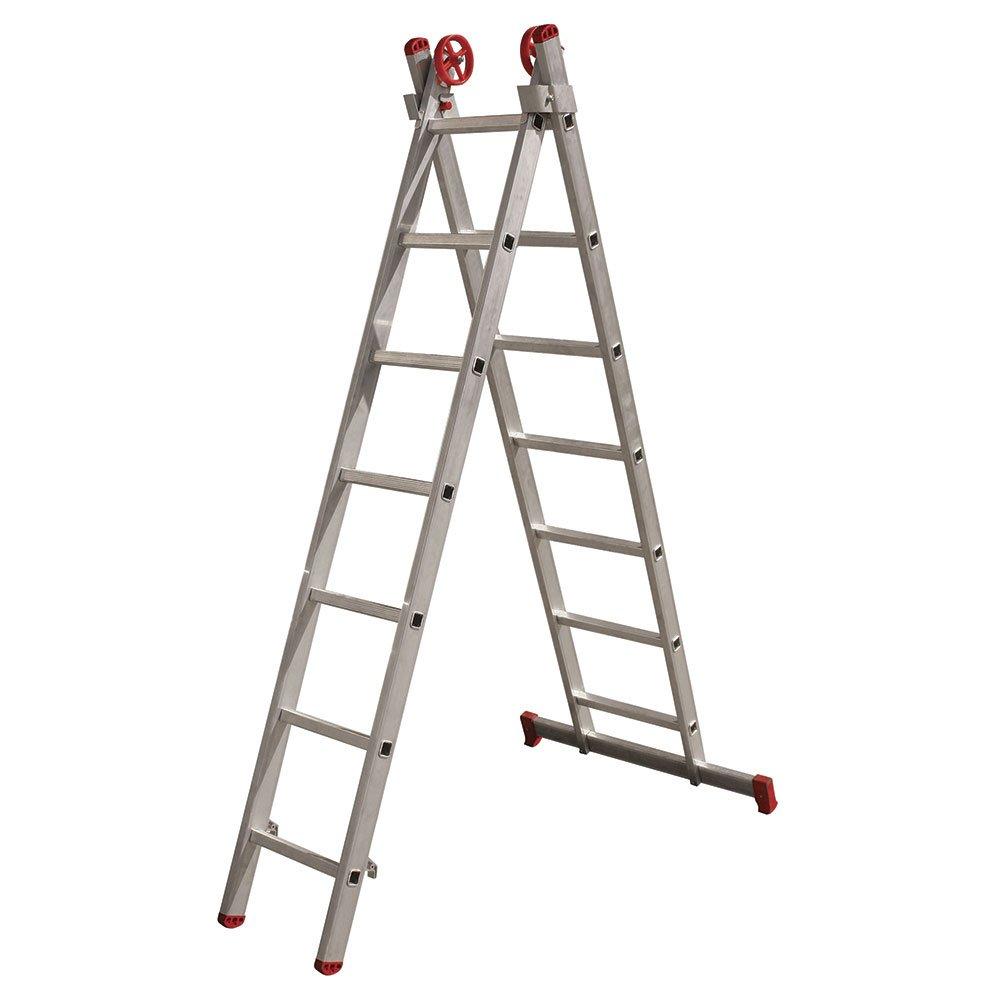 dcebbf66f Escada Extensiva 3 em 1 em Alumínio 7 x 2 Degraus - BOTAFOGO-ESC0616 ...