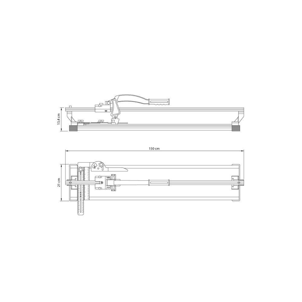 Cortador de Pisos e Azulejos Ultra Corte 1300 mm - Imagem zoom
