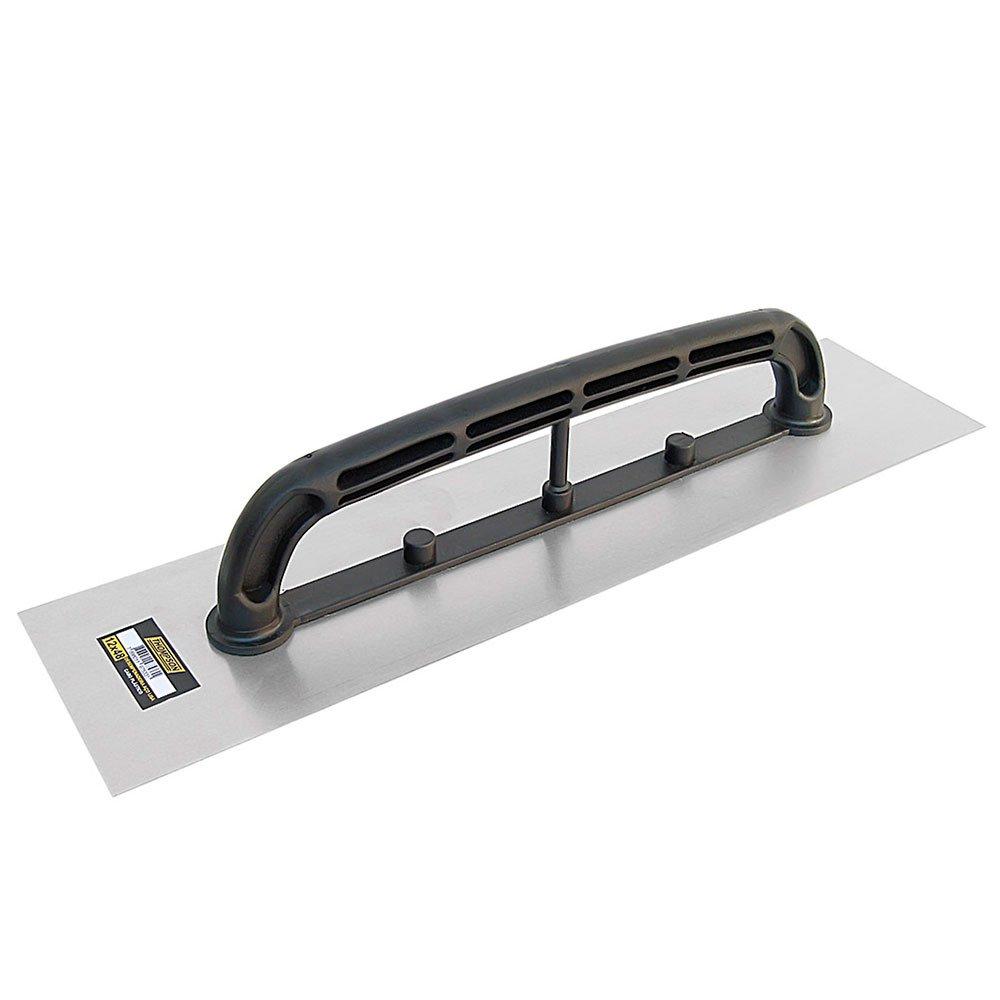 Desempenadeira Lisa em Aço  12 x 48 cm com Cabo Plástico - Imagem zoom