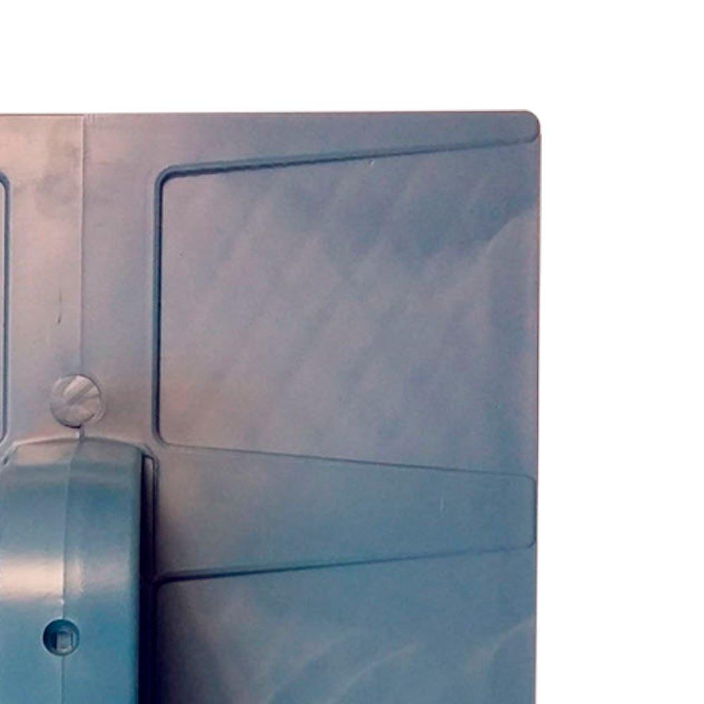 Desempenadeira Plástica Corrugada Azul 18 x 30 cm - Imagem zoom
