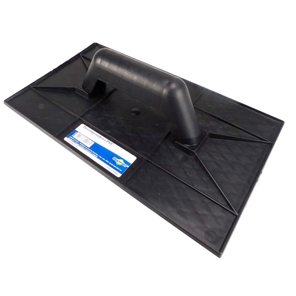 Desempenadeira em PVC 18 x 30cm Emborrachada Cinza - Imagem zoom