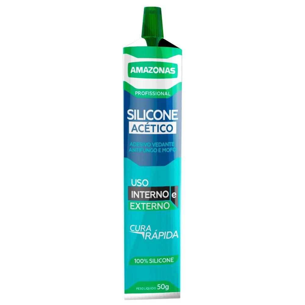 Silicone Acético Bisnaga Transparente 50g