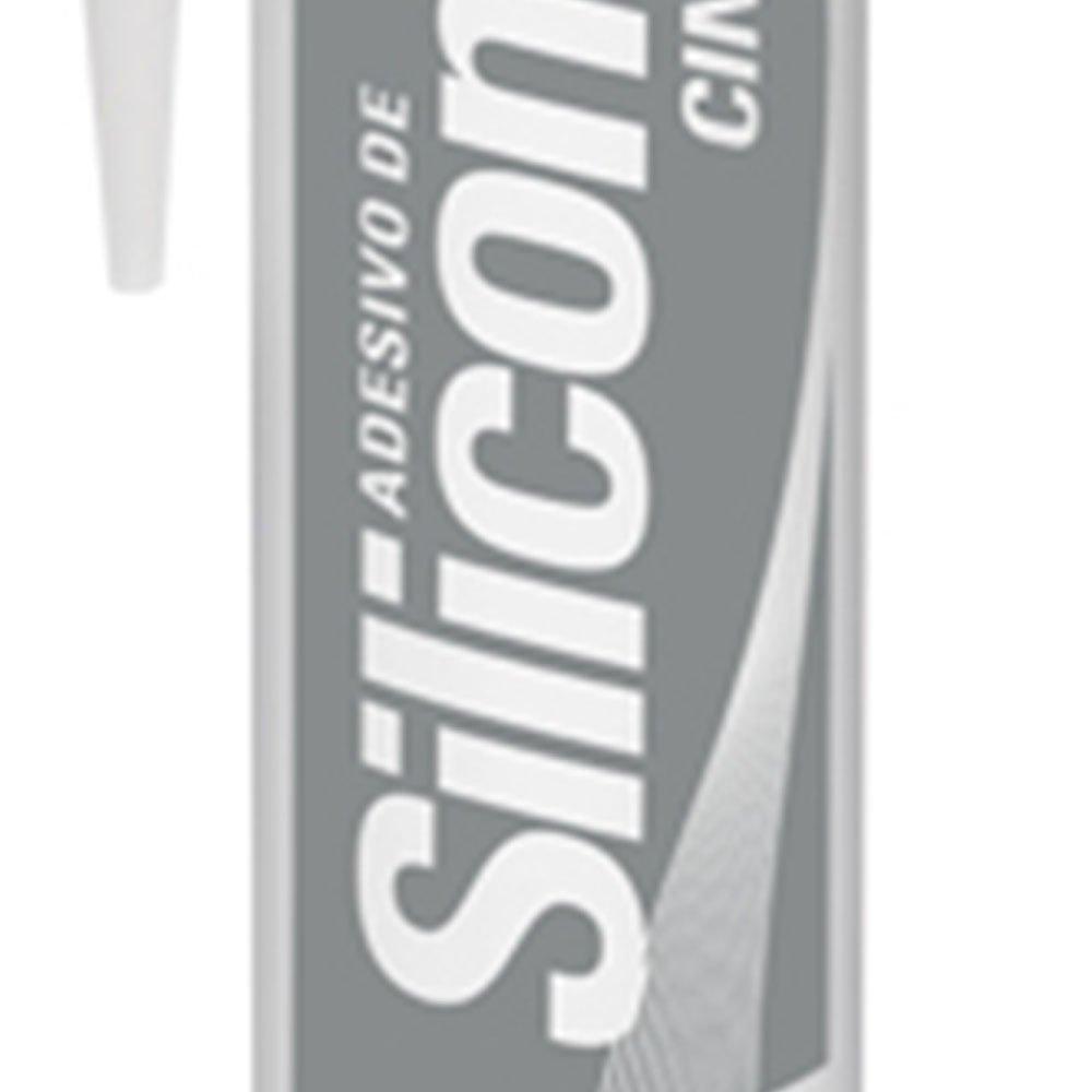Adesivo de Silicone Neutro Cinza 280g - Imagem zoom