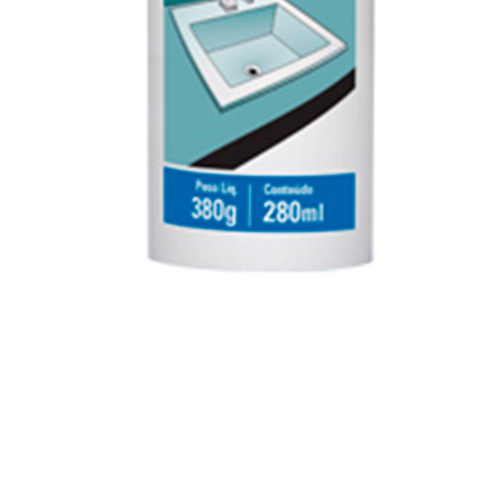 Adesivo para Fixação de Pias e Cubas Cinza 380g  - Imagem zoom