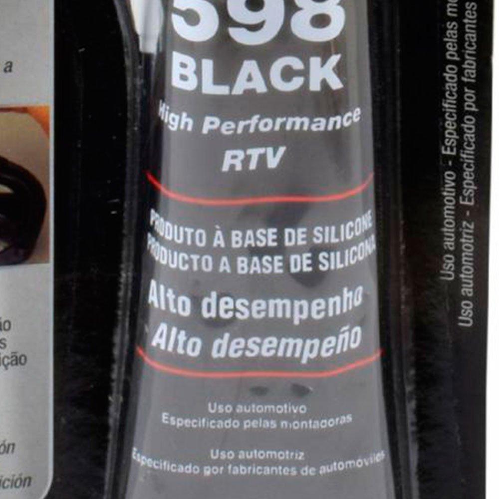 Silicone para Vedação Oxímico Black 598 70g - Imagem zoom