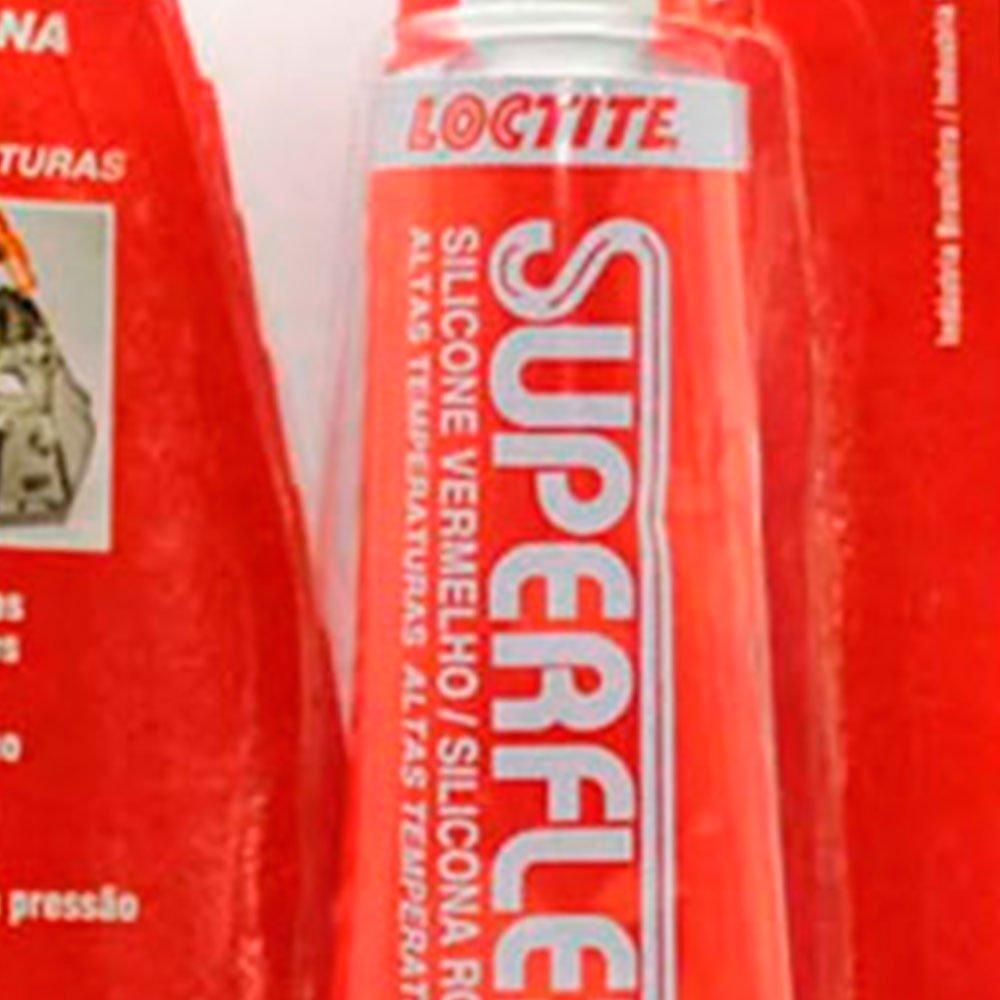 Silicone Acético Vermelho Superflex 596 - 55g - Imagem zoom