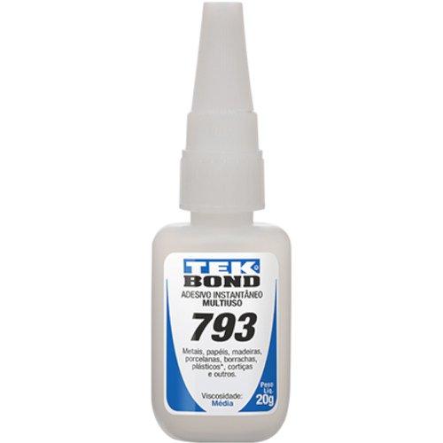 adesivo instantâneo 793 com 20g e bico anti entupimento