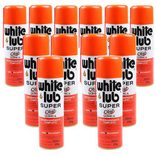 kit desengripante spray white lub super 300ml com 12 unidades