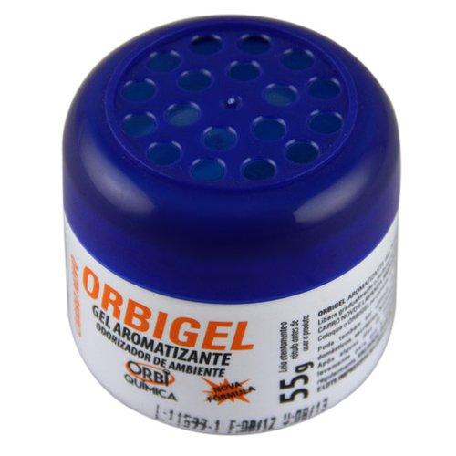aromatizante em gel carro novo orbigel 55 g