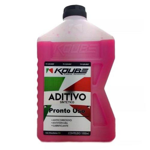 aditivo para radiador sintético pronto uso rosa 1 litro