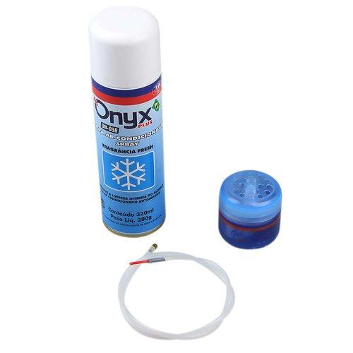kit limpa ar condicionado com aromatizante fresh