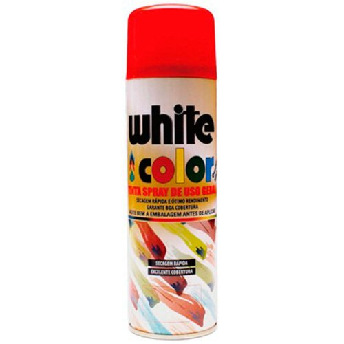 tinta spray white color vermelho 340ml