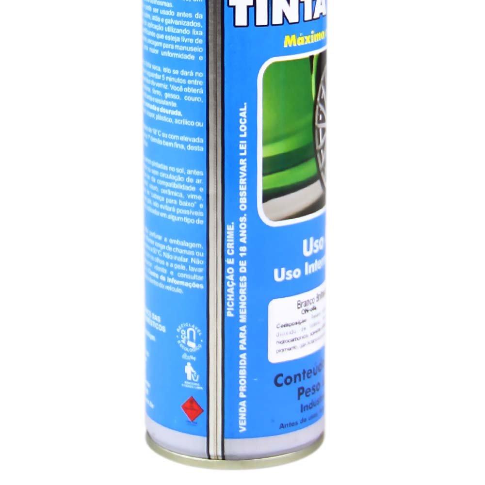 Tinta Spray Uso Geral Branco Brilhante 400ml - Imagem zoom