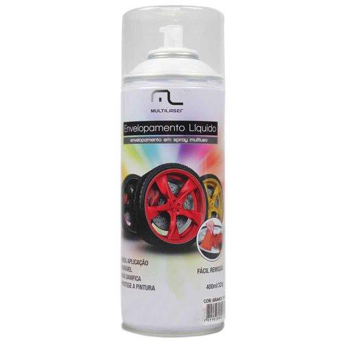 envelopamento líquido branco fosco em spray - 400ml