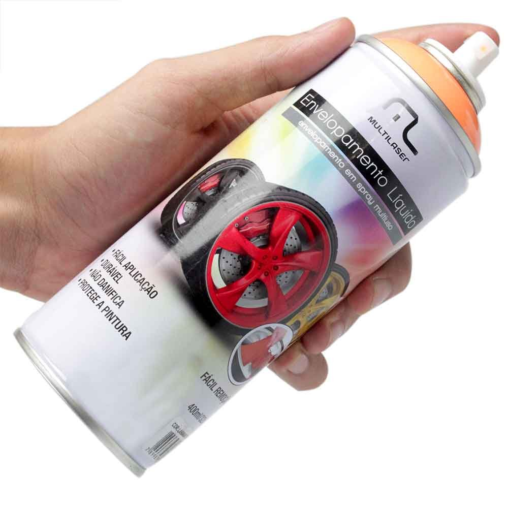 Envelopamento Líquido Laranja Fluorescente em Spray - 400ml - Imagem zoom