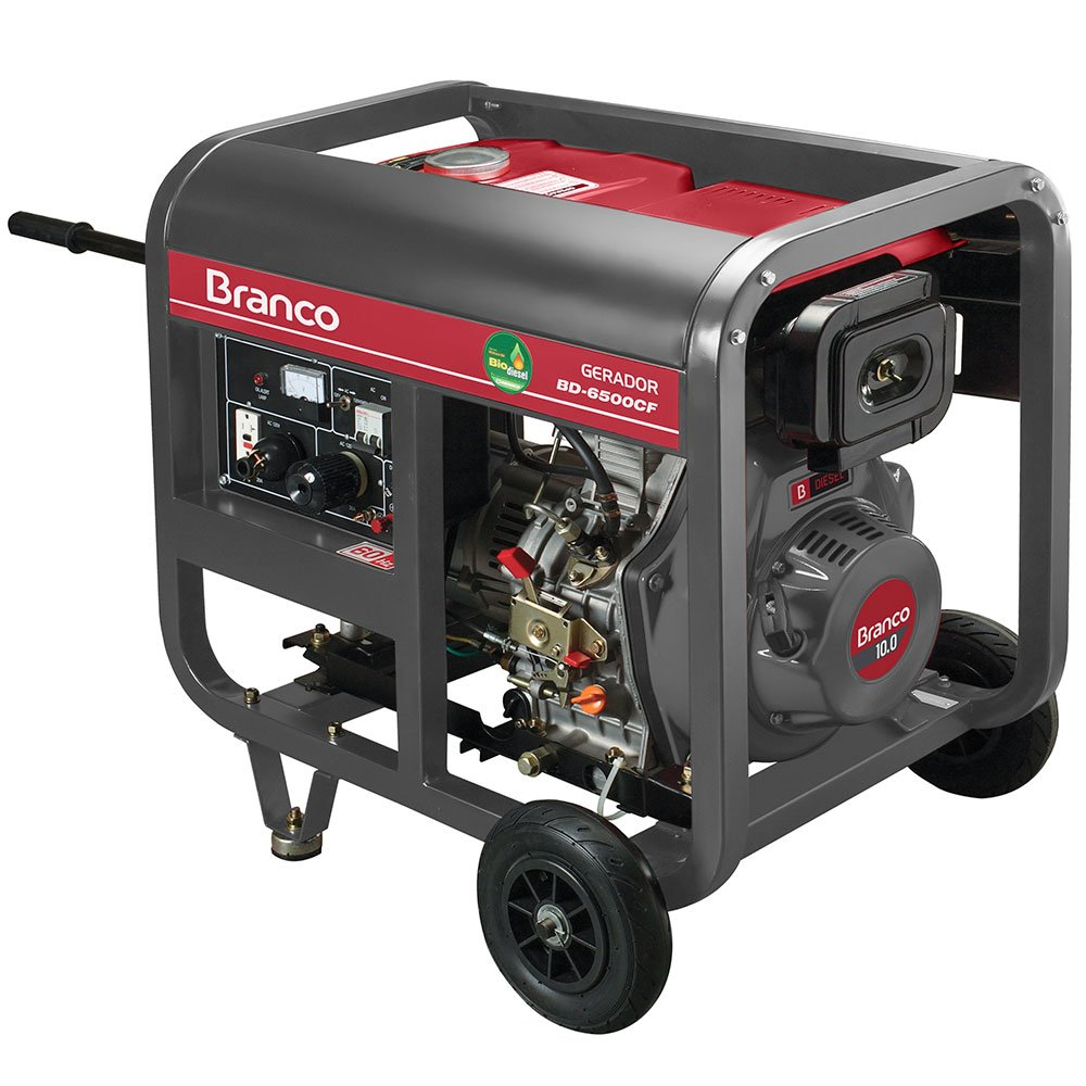 Gerador de Energia à Diesel BD 6500 5,5KVA 10CV  Monofásico com Partida Manual - Imagem zoom