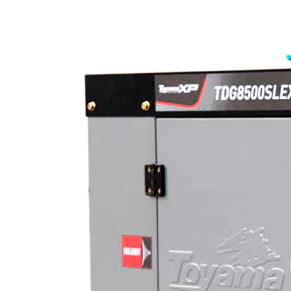 Gerador de Energia Cabinado a Diesel 4T 498cc 7KW Mono Bivolt com AVR e Partida Elétrica  - Imagem zoom