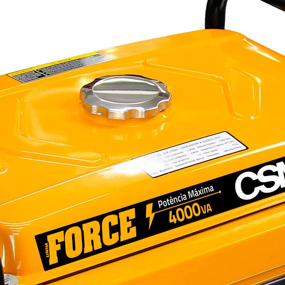 Gerador de Energia Portátil à Gasolina  4,0Kva 4T 6,5HP 110/220V Partida Elétrica - Imagem zoom